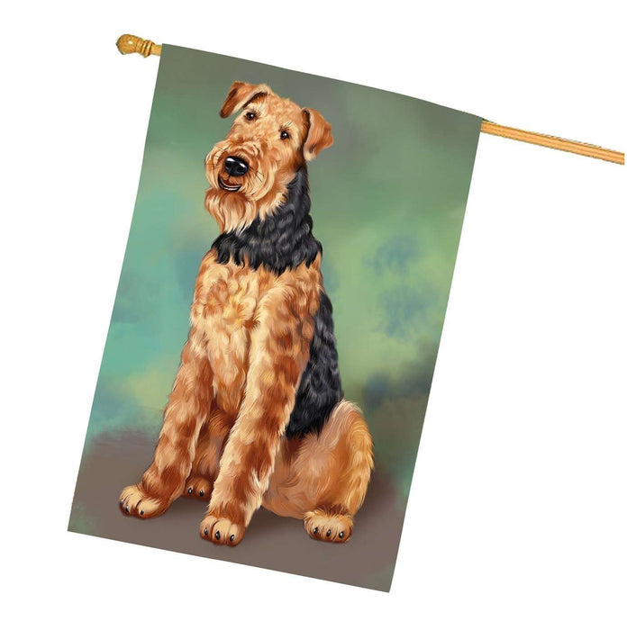 Airedale Dog House Flag