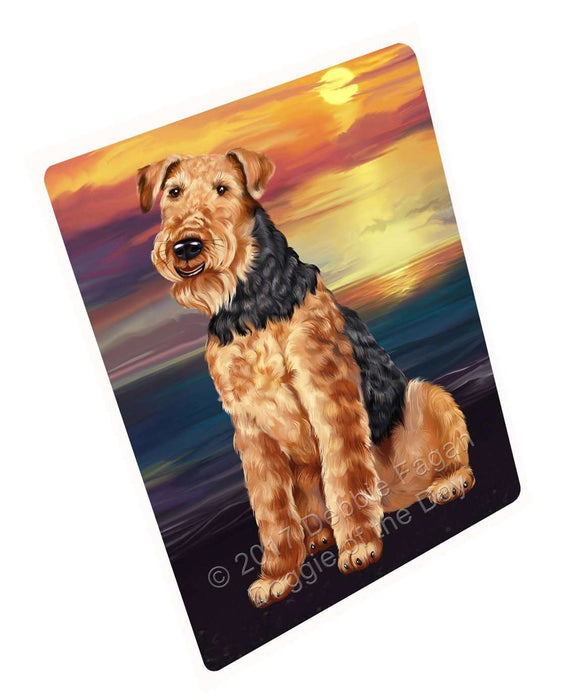 "Airedale Dog Magnet Small (5.5"" x 4.25"")"