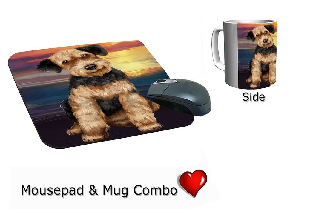 Airedale Dog Mug & Mousepad Combo Gift Set