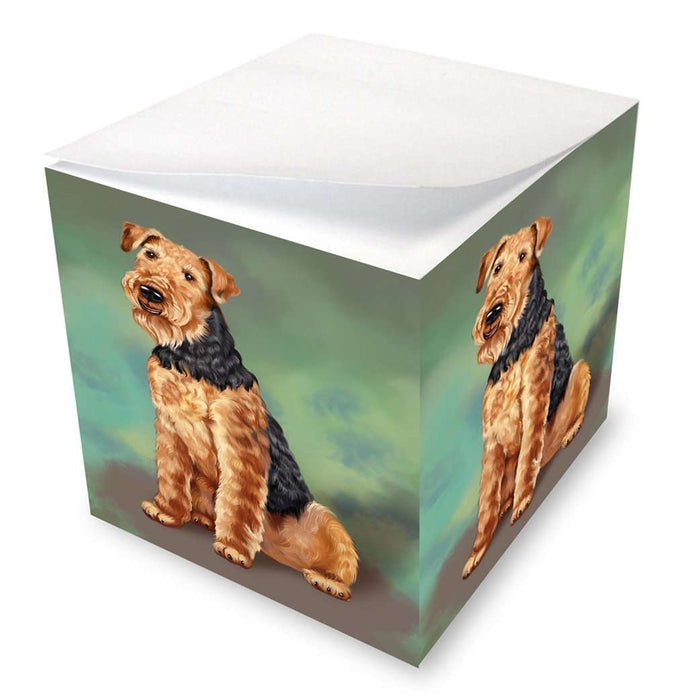 Airedale Dog Note Cube