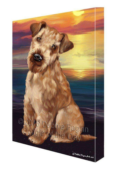 Airedale Dog Painting Printed on Canvas Wall Art