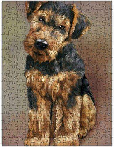 Airedale Dog Puzzle with Photo Tin
