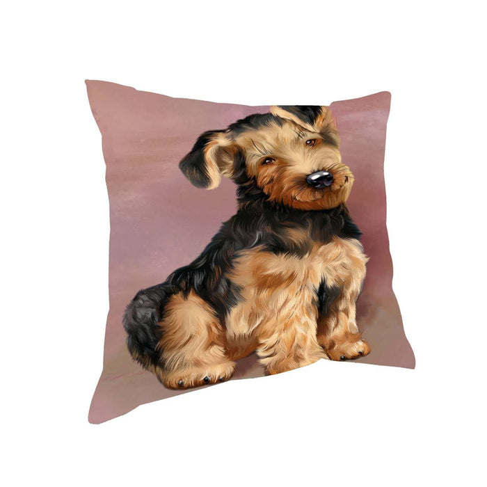 Airedale Dog Throw Pillow