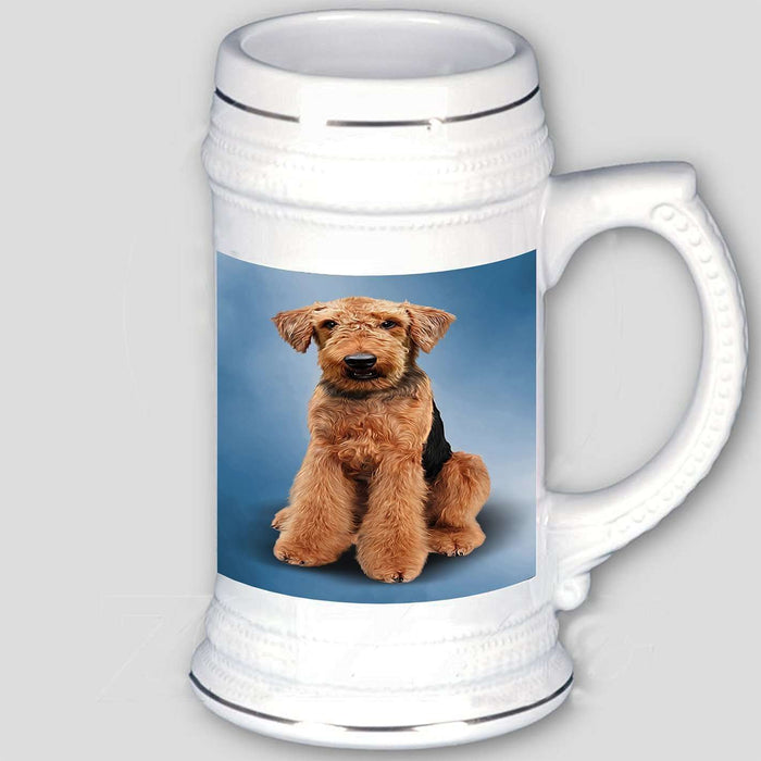 Airedale Terrier Dog Beer Stein