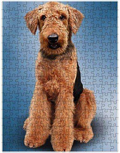 Airedale Terrier Dog Puzzle with Photo Tin