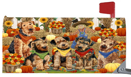 Magnetic Mailbox Cover Harvest Time Festival Day Airedales Dog MBC48002