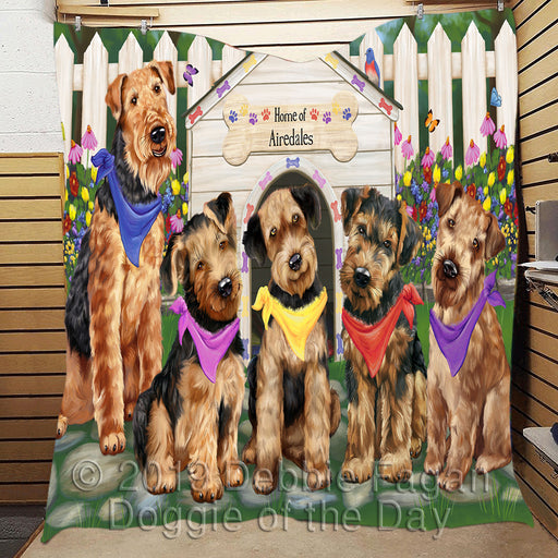Spring Dog House Airedale Dogs Area Rug