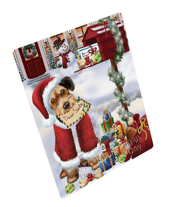 Airedales Dear Santa Letter Christmas Holiday Mailbox Dog Magnet