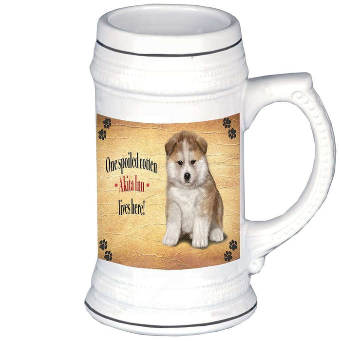 Akita Inu Spoiled Rotten Dog Beer Stein