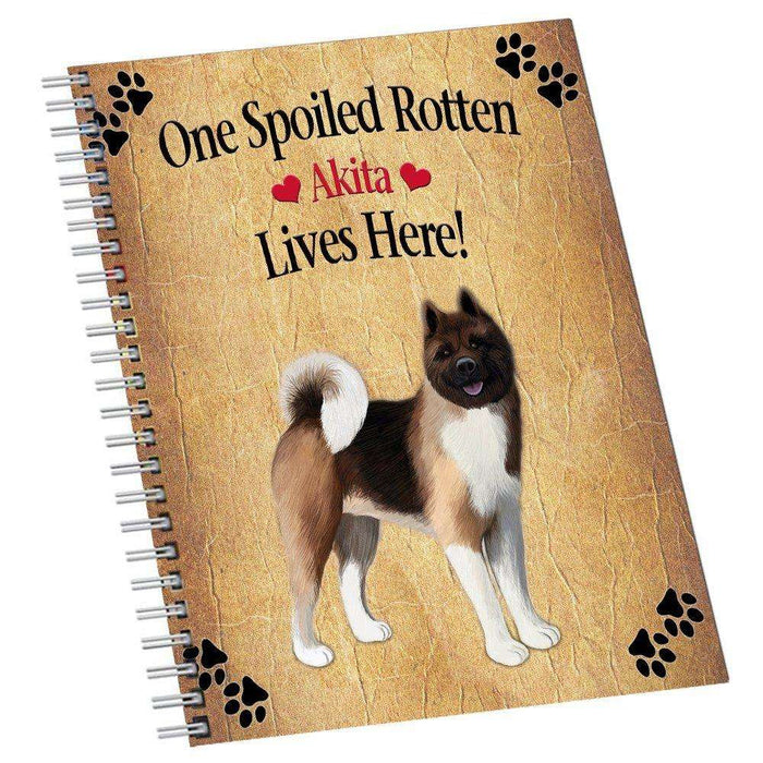 Akita Spoiled Rotten Dog Notebook