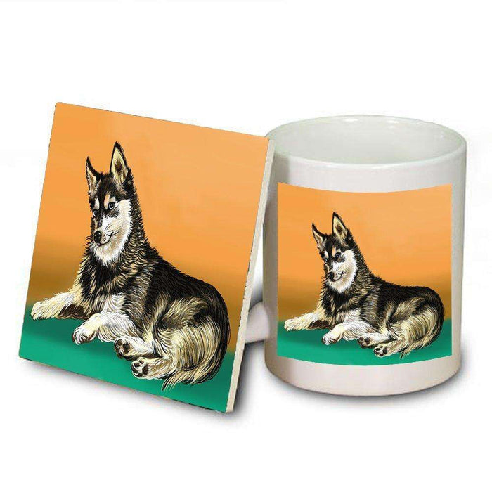 Alaskan Klee Kai Dog Mug and Coaster Set