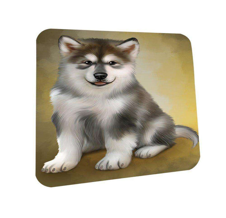Alaskan Malamute Dog Coasters Set of 4
