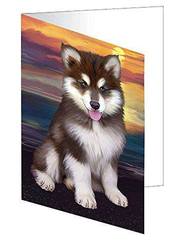 Alaskan Malamute Dog Greeting Card D454