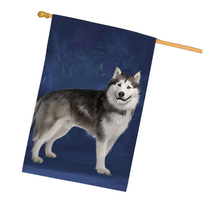 Alaskan Malamute Dog House Flag HF383