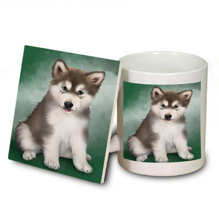 Alaskan Malamute Dog Mug and Coaster Set