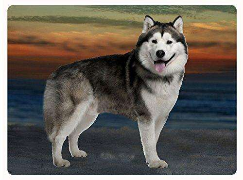 Alaskan Malamute Dog Tempered Cutting Board
