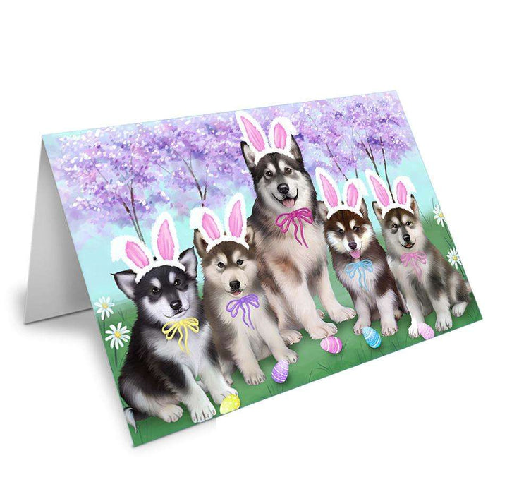 Alaskan Malamutes Dog Easter Holiday Greeting Card GCD51401