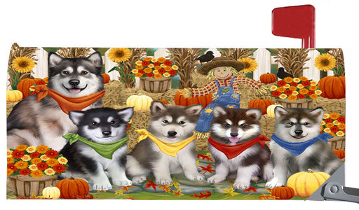 Magnetic Mailbox Cover Harvest Time Festival Day Alaskan Malamutes Dog MBC48004