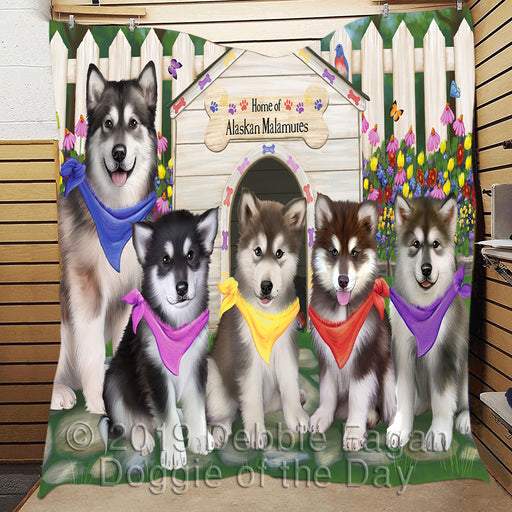 Personalized Spring Dog House Alaskan Malamute Dogs Custom Garden Flags GFLG-DOTD-A62698