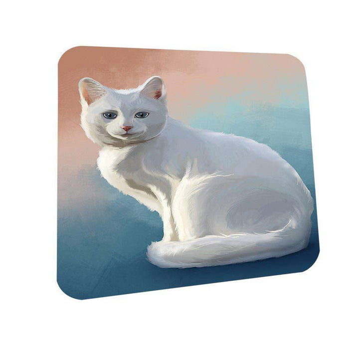 Albino Cat Coasters Set of 4