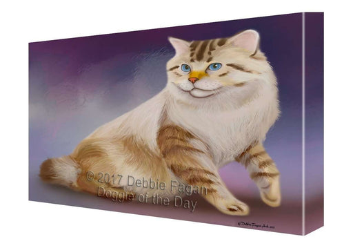 American Bobtail Cat Canvas Wall Art D152