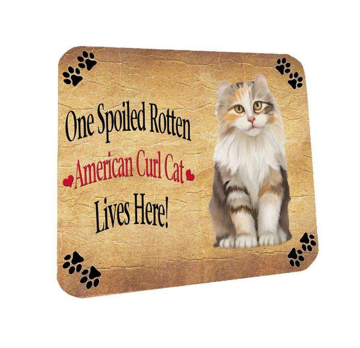 American Curl Spoiled Rotten Cat Coasters Set of 4