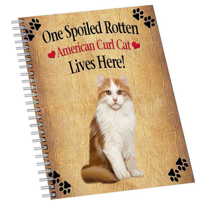 American Curl Spoiled Rotten Cat Notebook