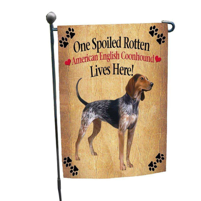 American English Coonhound Spoiled Rotten Dog Garden Flag