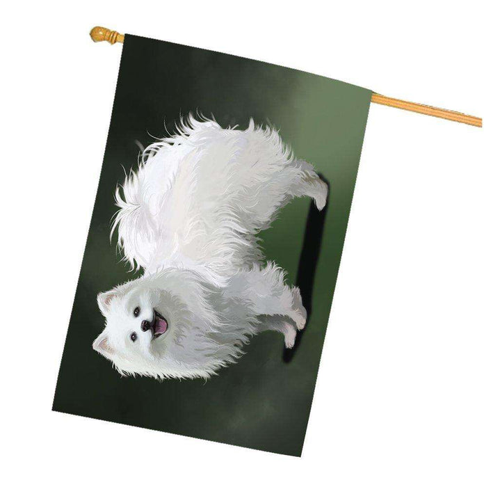 American Eskimo Dog House Flag