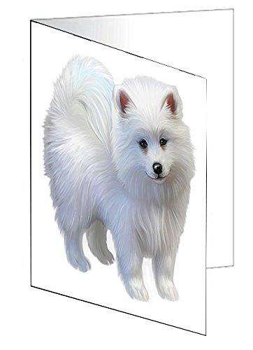 American Eskimo Puppy Dog Greeting Card