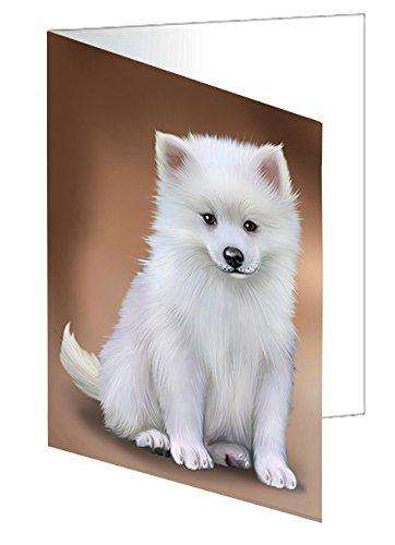 American Eskimos Dog Greeting Card D466