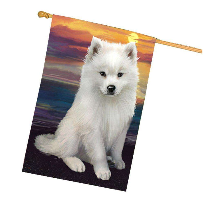 American Eskimos Dog House Flag