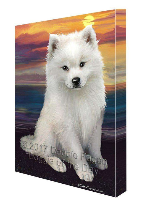 American Eskimos Dog Wall Art Canvas CV172