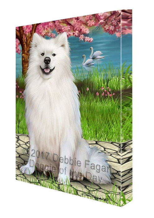 American Eskimos Dog Wall Art Canvas CV173