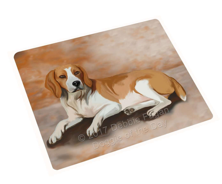 American Foxhound Dog Art Portrait Print Woven Throw Sherpa Plush Fleece Blanket