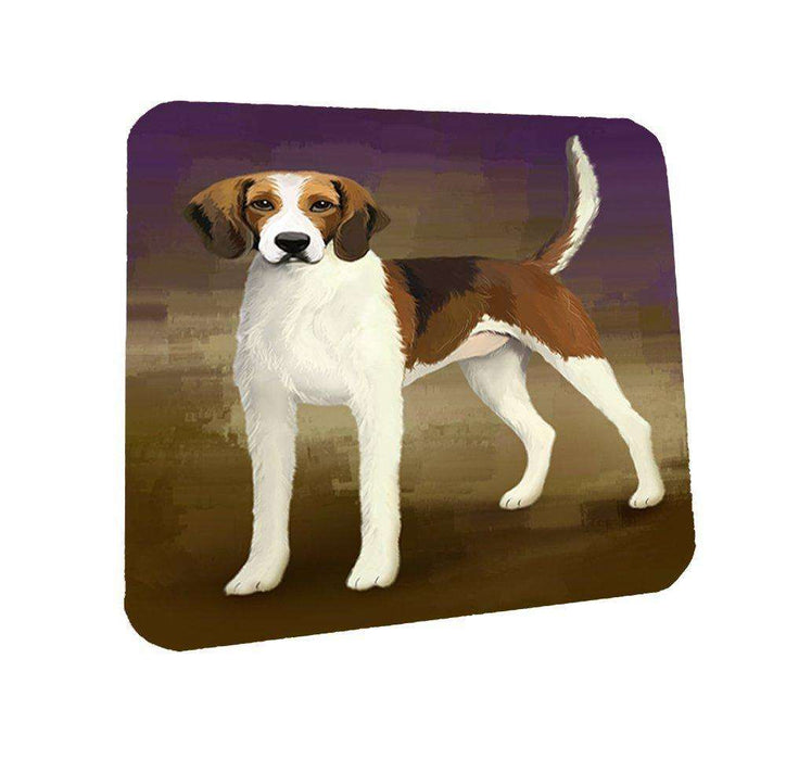 American Foxhound Dog Coasters Set of 4
