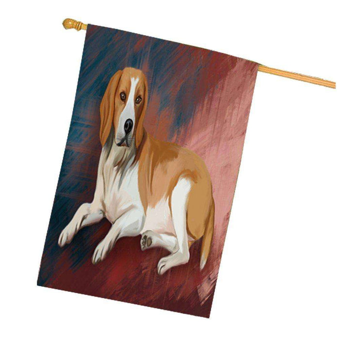 American Foxhound Dog House Flag