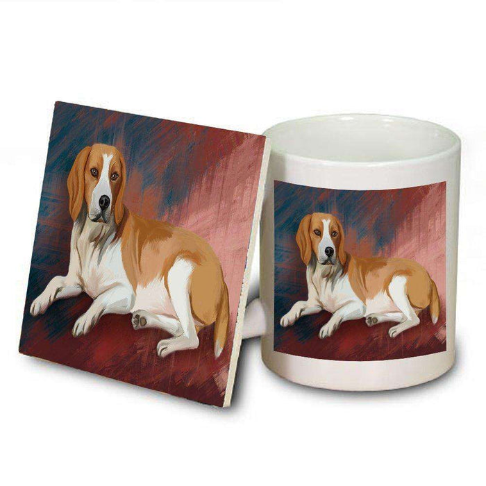 American Foxhound Dog Mug and Coaster Set