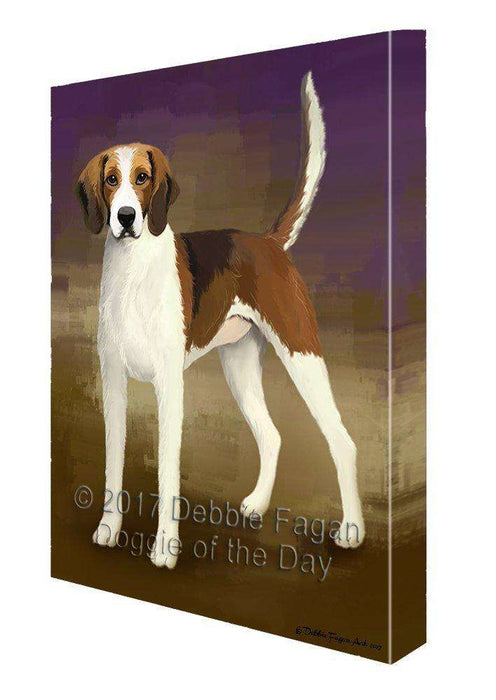 American Foxhound Dog Painting Printed on Canvas Wall Art
