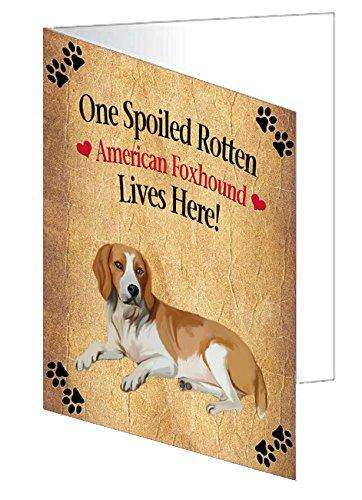 American Foxhound Spoiled Rotten Dog Greeting Card