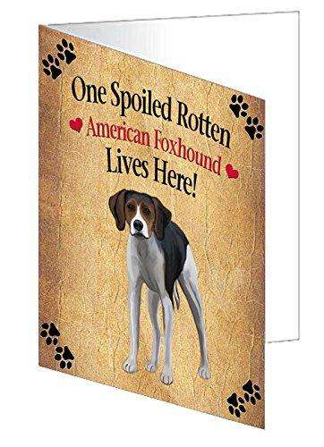 American Foxhound Spoiled Rotten Dog Note Card