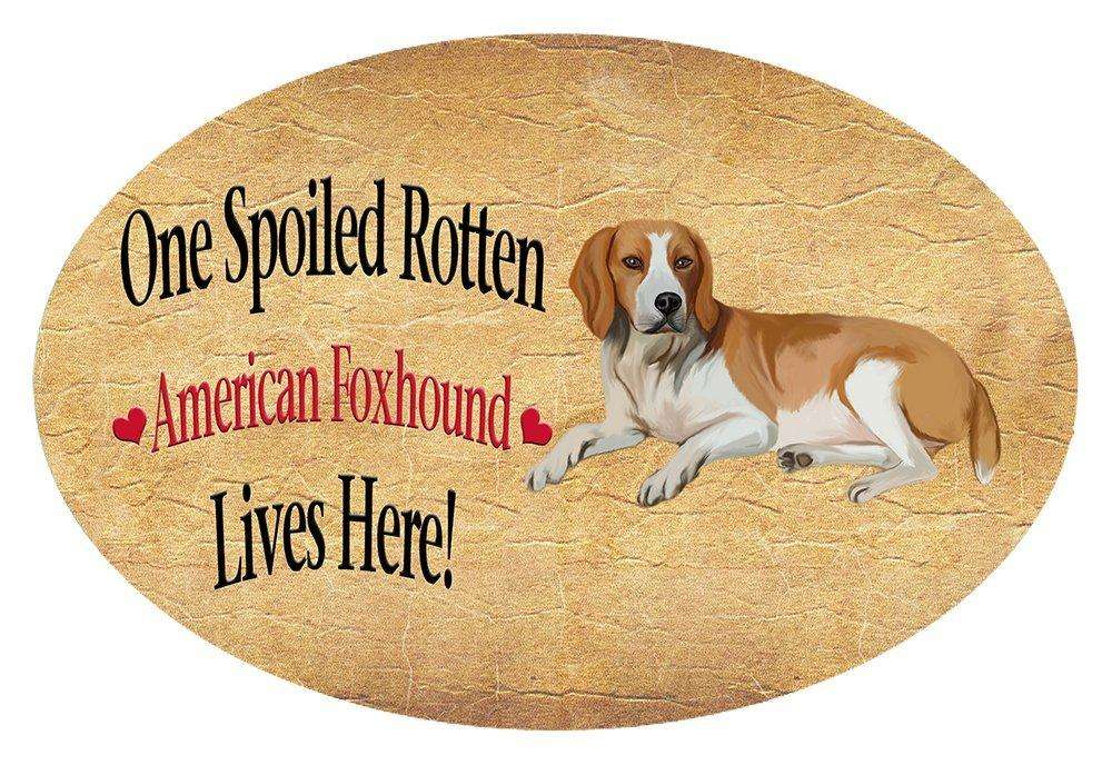 American Foxhound Spoiled Rotten Dog Oval Envelope Seals