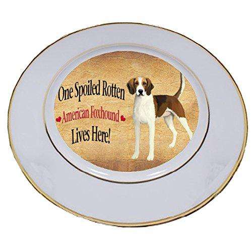 American Foxhound Spoiled Rotten Dog Porcelain Plate