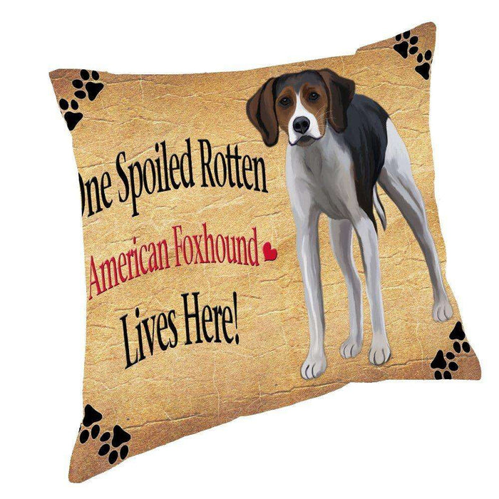 American Foxhound Spoiled Rotten Dog Throw Pillow