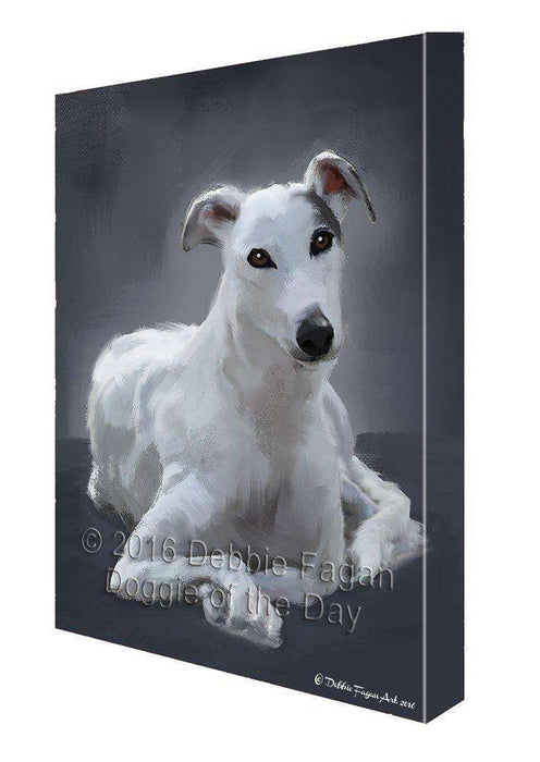 American Greyhound Dog Painting Printed on Canvas Wall Art
