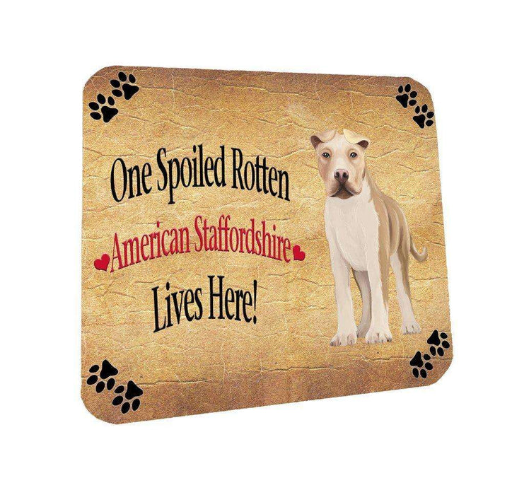 American Staffordshire Spoiled Rotten Dog Coasters Set of 4