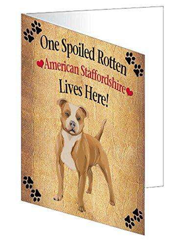 American Staffordshire Spoiled Rotten Dog Greeting Card