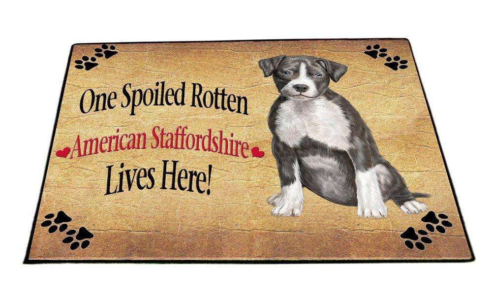 American Staffordshire Spoiled Rotten Dog Indoor/Outdoor Floormat