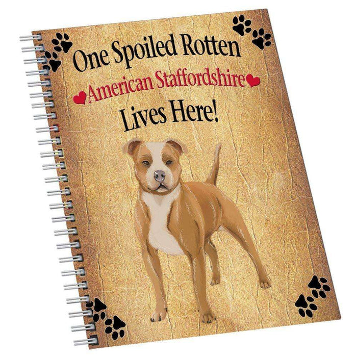 American Staffordshire Spoiled Rotten Dog Notebook