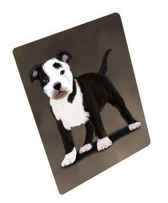 "American Staffordshire Terrier Black And White Dog Magnet Mini (3.5"" x 2"")"